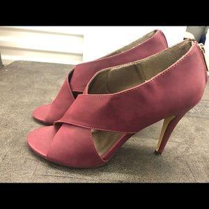 Michael Antonio Maroon Leather High Heel Sandals